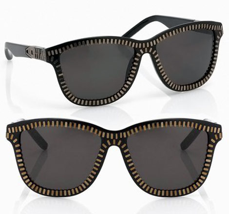 Alexander Wang Sunglasses zipped gold