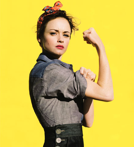 Alexis Bledel Rosie The Riveter Americans Icons Glamour