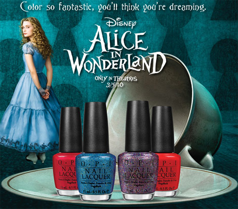 Alice In Wonderland OPI Nail Lacquer Collection