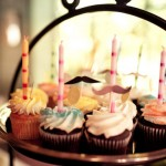 Alice in Wonderland themed party cupcakes