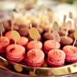 Alice in Wonderland themed party pink macaroons