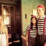 Alice in Wonderland themed party stripes