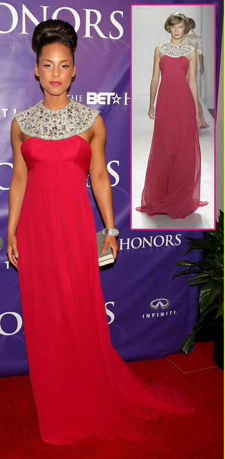 Alicia Keys Bet Honors Wearing Naeem Khan Spring Summer 2008 Dress