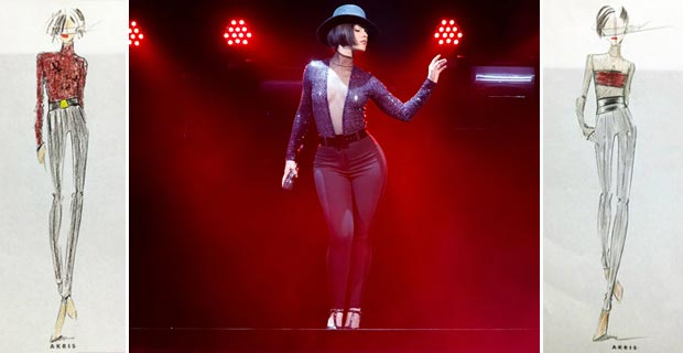 Alicia Keys new tour costumes by Akris