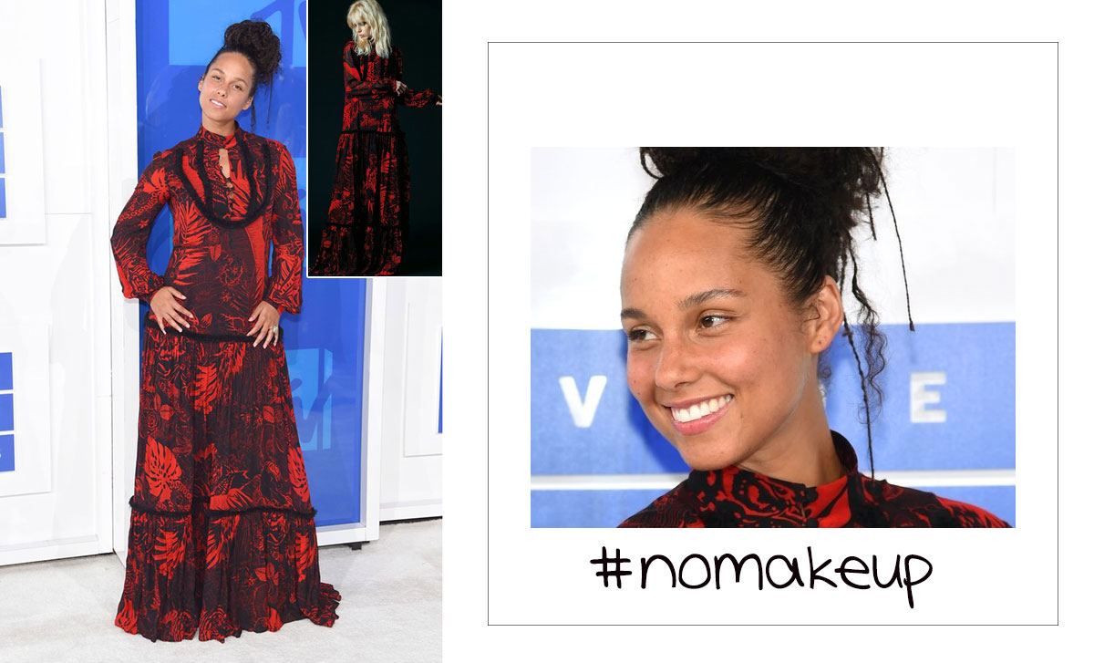 Alicia Keys no makeup beautiful mtv vma