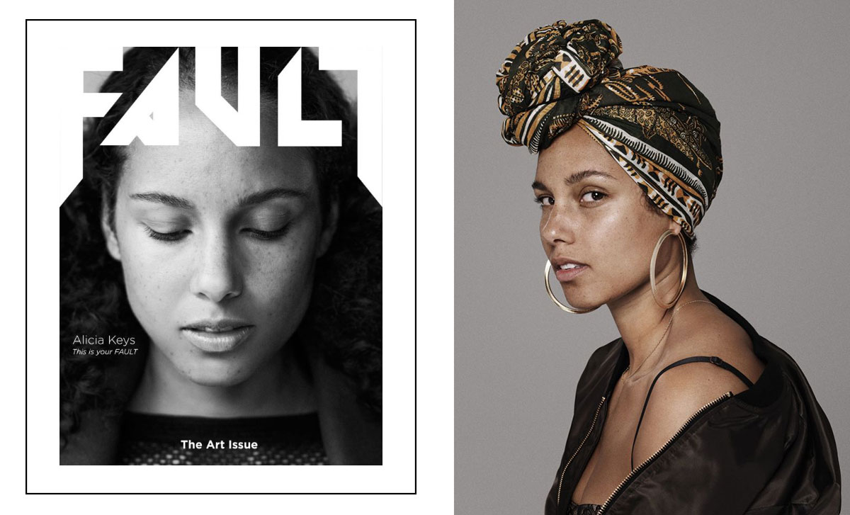 Alicia Keys no makeup Fault magazine and more