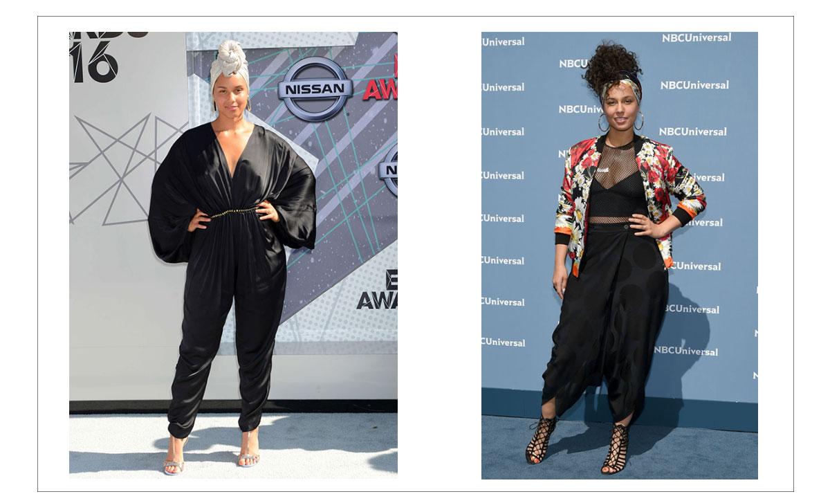Alicia Keys no makeup Red Carpet events