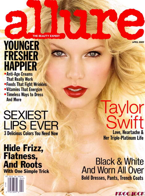 Allure April 09 Taylor Swift cover