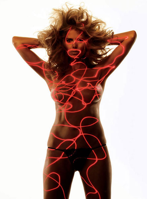 Allure April 2010 Heidi Klum No clothes