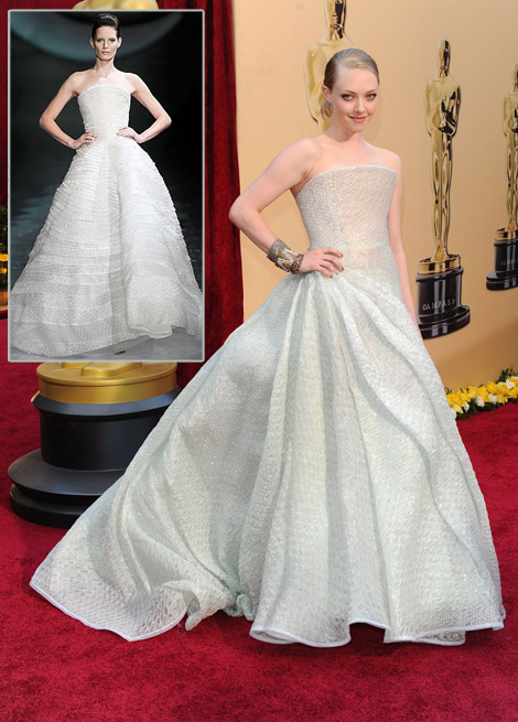 Amanda Seyfried Armani Prive dress 2010 Oscars