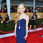 Amanda Seyfried cobalt blue dress 2013 SAG Awards