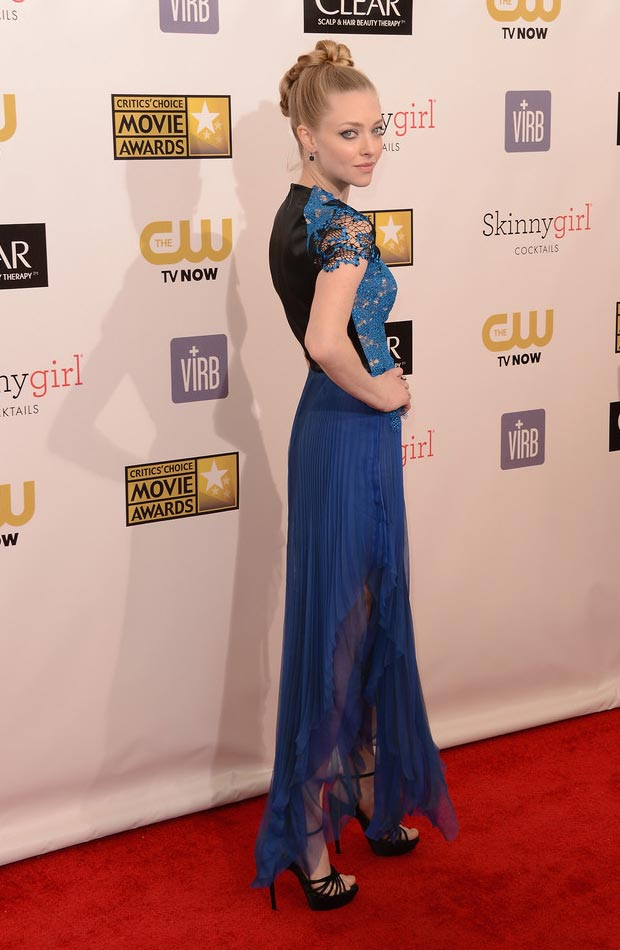 Amanda Seyfried's Blue Marios Schwab Dress, Critics Choice Awards 2013