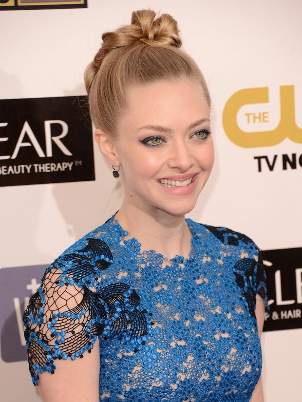 Amanda Seyfried hair makeup Critics Choice Awards 2013