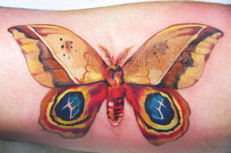 Amanda Wachob butterfly tattoo