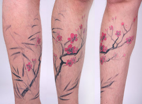 Amanda Wachob flowers tattoos