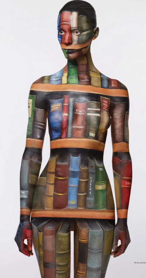 amazing body painting library Acne paper