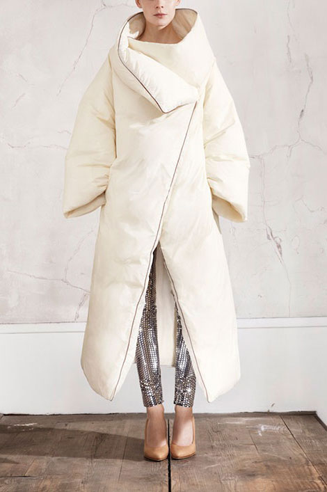amazing white oversized coat H M Maison Martin Margiela