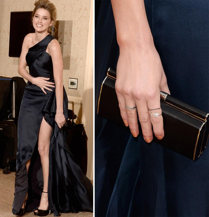 Amber Heard nails 2014 Golden Globes