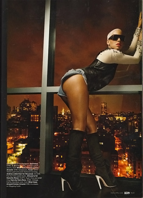 Amber Rose Elle October 2009