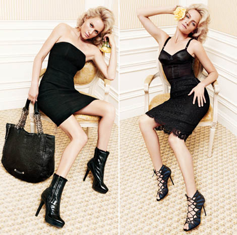 Amber Valletta's Jimmy Choo Fall Winter 2010 2011 Ad Campaign