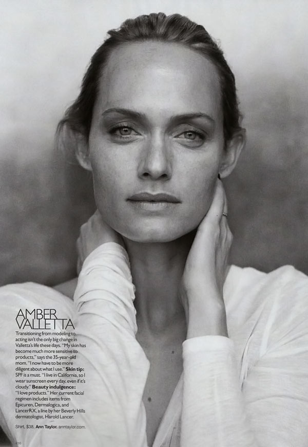 Amber Valletta Supermodels Supernatural Harper s Bazaar September 09