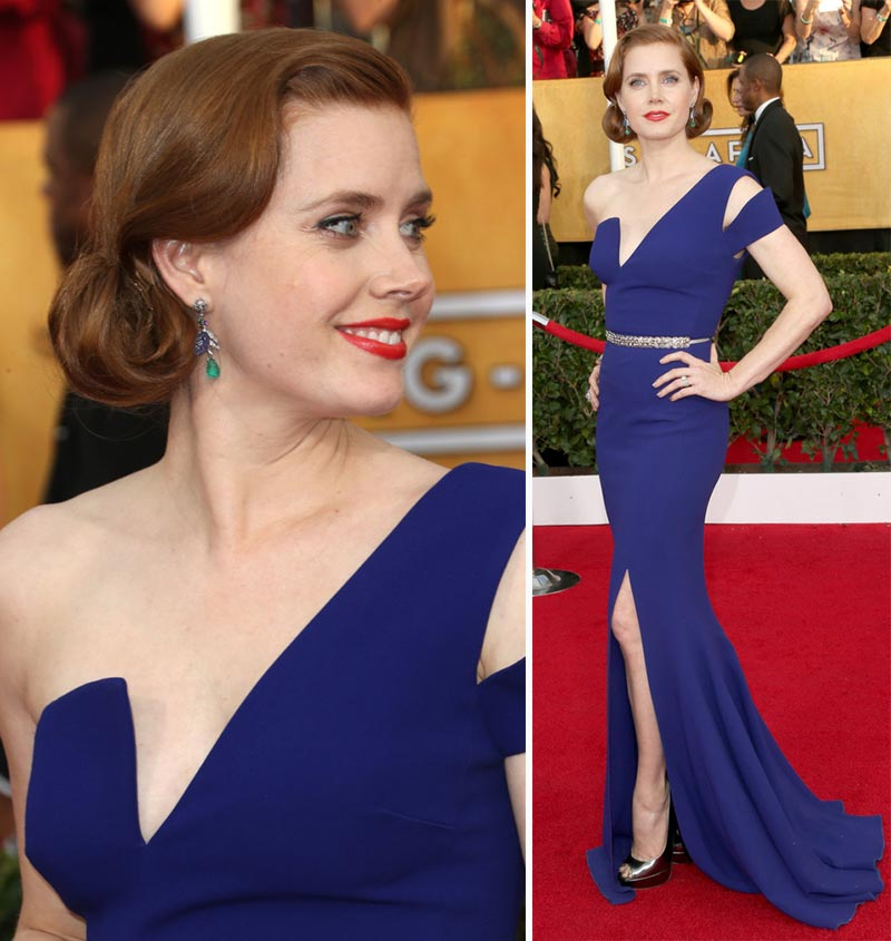 Amy Adams blue dress 2014 SAG Awards Red Carpet