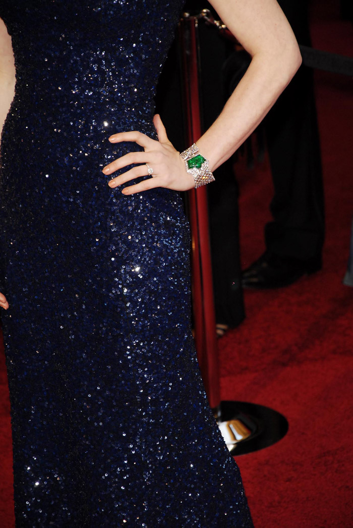 Amy Adams blue Sequined L Wren Scott dress 2011 Oscars 1