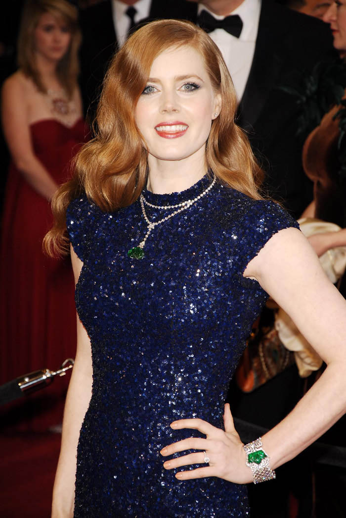 Amy Adams blue Sequined L Wren Scott dress 2011 Oscars 2