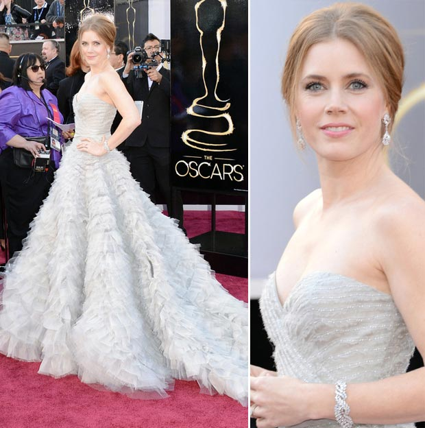 Oscars 2013: Amy Adams Oscar De La Renta Light Lavender Dress