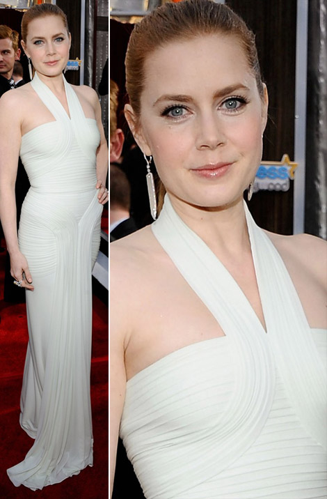 Amy Adams Herve L Leroux white dress 2011 SAG Awards