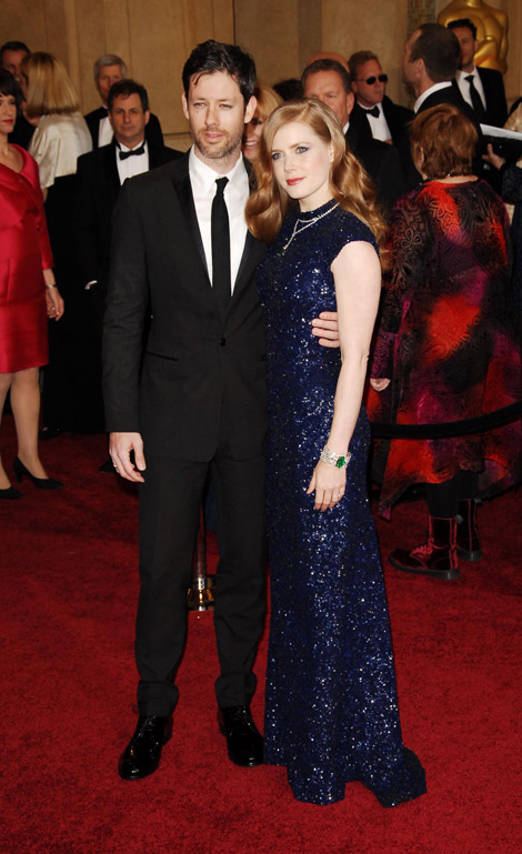 Amy Adams In Blue L'Wren Scott Dress For 2011 Oscars