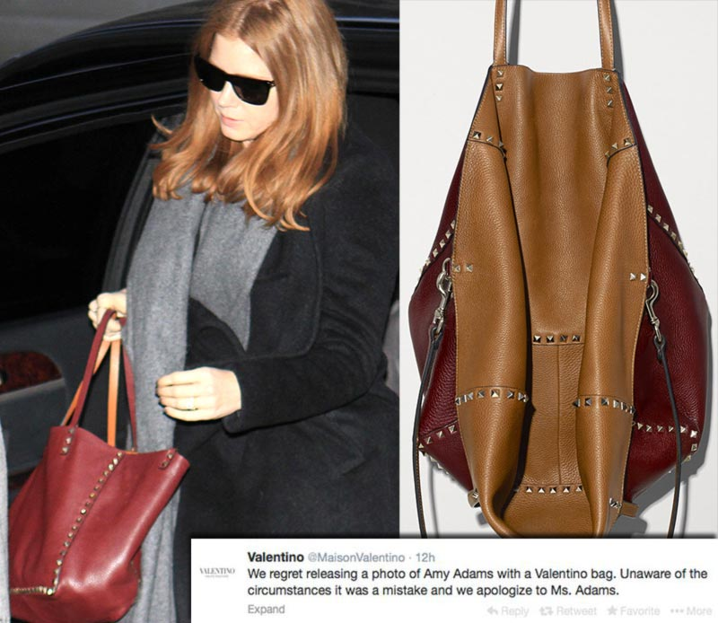 Amy Adams Valentino bag funeral