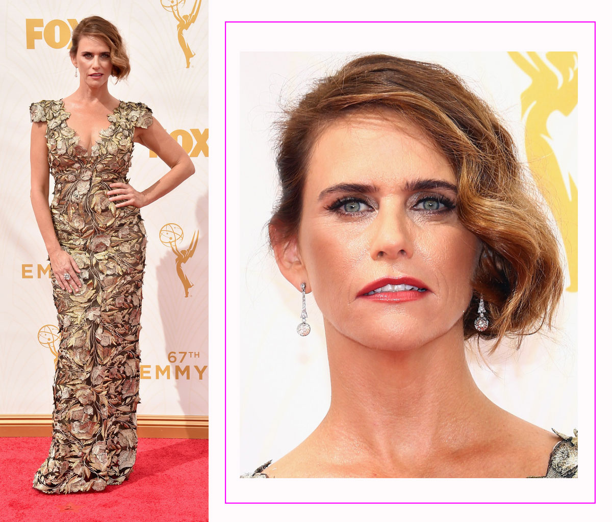 Amy Landecker 2015 Emmy Awards red carpet hairdo