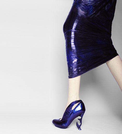 Anastasia Radevich shoes collection 2010 Biofuture blue