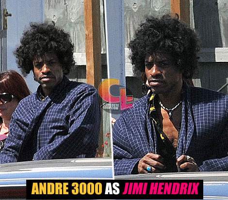 First Look: Andre 3000 Playing Jimi Hendrix