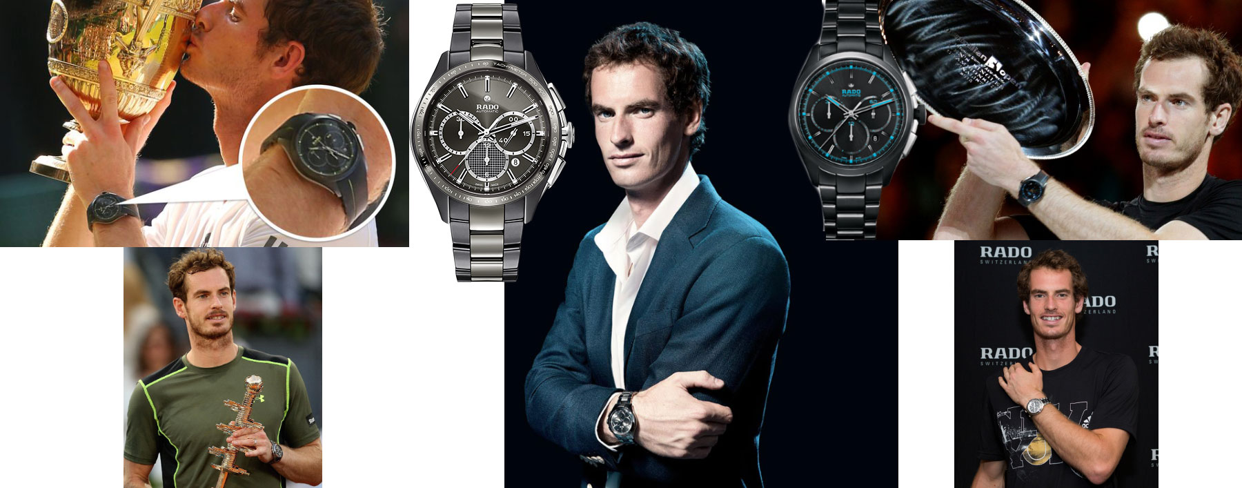 Andy Murray Rado Watches Wimbledon Madrid Cincinnati