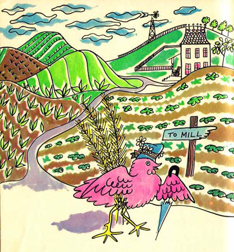 Andy Warhol Little Red Hen book illustrations