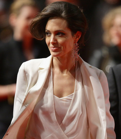 Angelina Jolie Akris suit Benjamin Button premiere Berlin