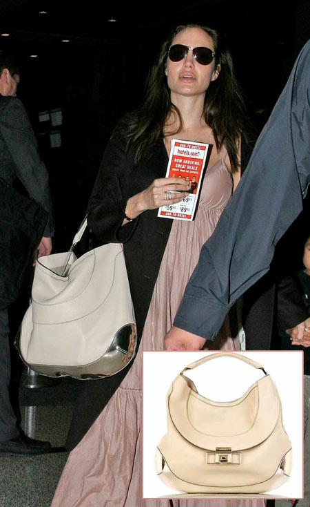 Angelina Jolie, her Baby Bump, her Tent Dress and her Cooper Tote Outing