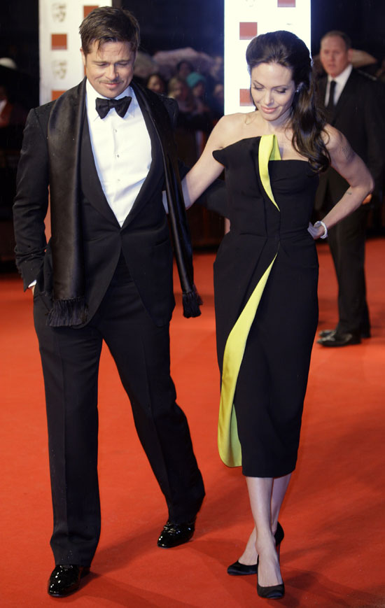 Angelina Jolie In Armani Privé Dress At Baftas 2009