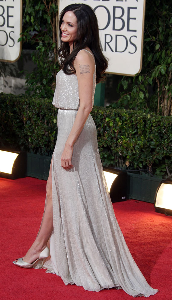 Angelina Jolie Atelier Versace dress Golden Globe Awards 2009 2