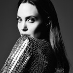 Angelina Jolie black and white Hedi Slimane photo Elle