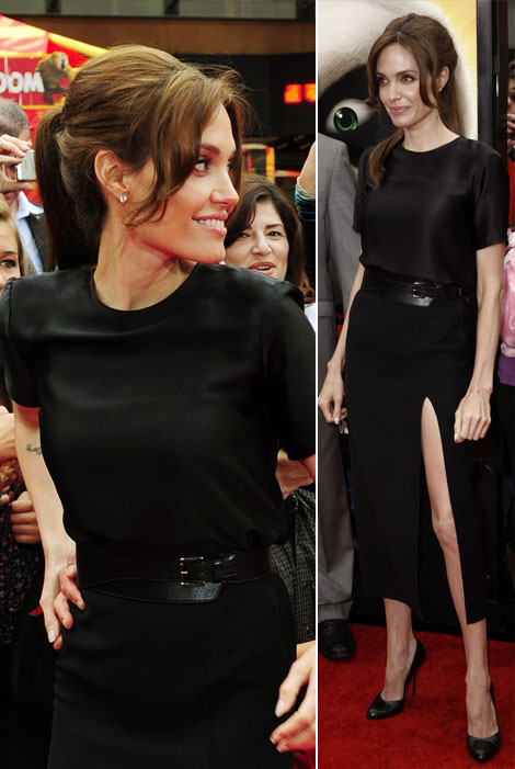 Angelina Jolie black outfit Kung Fu Panda 2 premiere