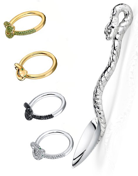 Angelina Jolie Brad Pitt Asprey Snake Spoon Rings