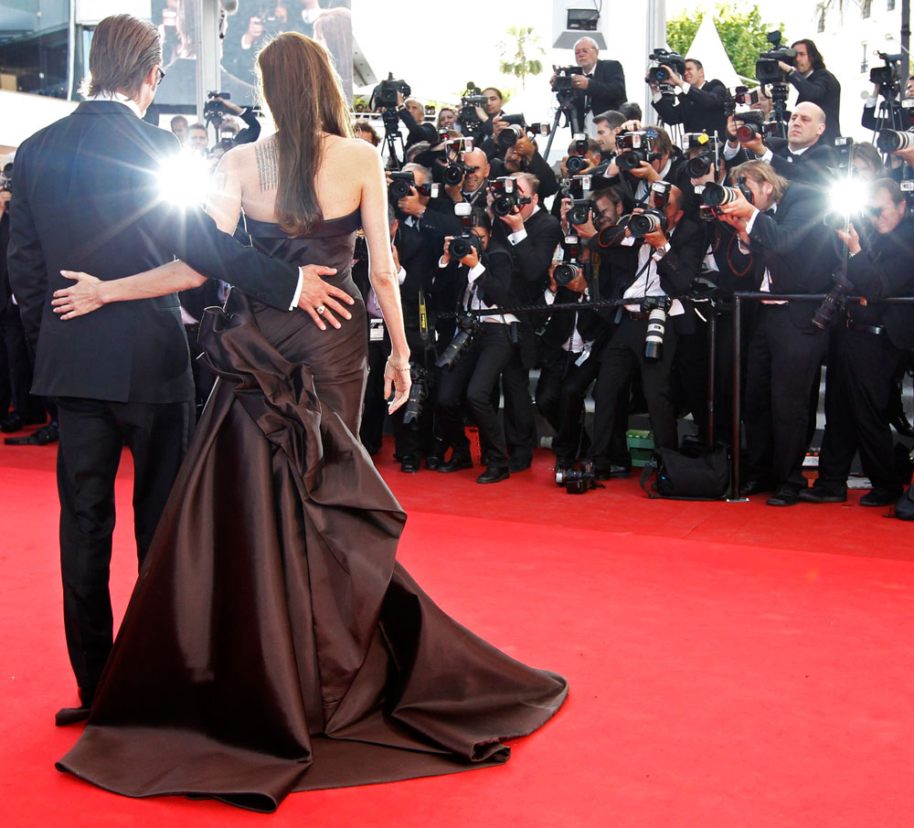 Angelina Jolie Brad Pitt Cannes 2011 Tree of Life 1
