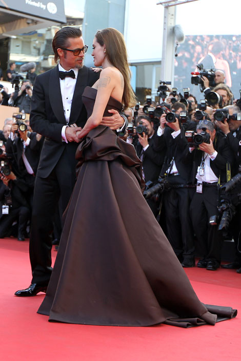 Angelina Jolie Brad Pitt cannes 2011 Tree of Life Premiere