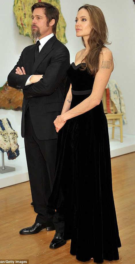 Angelina Jolie And Brat Pitt's Night At The Museum