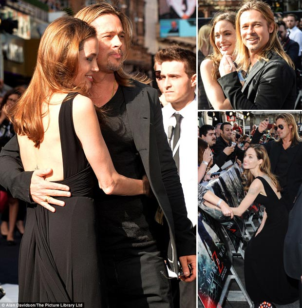 Angelina Jolie Brad Pitt picture happy together film premiere