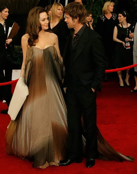 Angelina Jolie and Brad Pitt on the Red Carpet at the SAG 2008