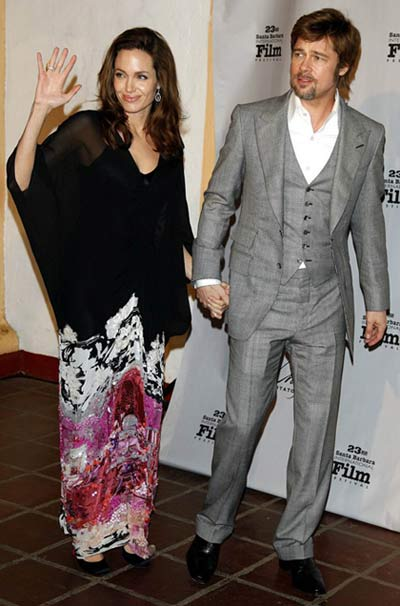 Angelina Jolie and Brad Pitt at the Santa Barbara Film Festival